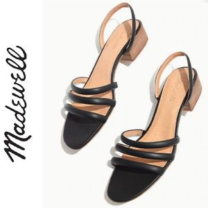 MADEWELL Addie strappy leather sandal black 9.5